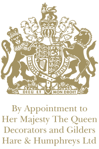 By Appointment to Her Majesty The Queen Decorators and Gilders Hare & Humphreys Ltd